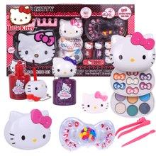 育儿之钥凯蒂猫公主儿童化妆品彩妆盒套装粉饼指甲油过家家玩具化妆礼盒