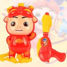 小才童气压水枪儿童玩具大号高压背包水枪沙滩戏水玩具猪猪侠射程远BT-8216 TL