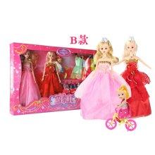 小才童儿童芭巴比芘公主娃娃套装大礼盒女孩生日礼物巴比批发玩具厂家880130XDD