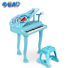 哆啦A梦儿童电子琴带麦克风小钢琴宝宝益智音乐玩具