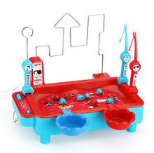 儿童磁性钓鱼玩具宝宝早教益智小孩电动钓鱼机套装3-6岁带迷宫版