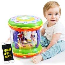 小才童婴儿充电旋转手拍鼓宝宝音乐触摸拍拍鼓6067A38YZQD