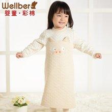 威尔贝鲁 婴儿男宝宝睡袍加厚款 儿童浴袍 女宝宝睡衣纯棉