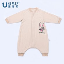 UHEALER 海勒兔春秋长袖中厚婴儿宝宝防踢被 儿童纯棉分腿式睡袋