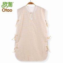 欧淘 有机棉纱布背心夏季系带睡袋