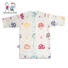 Marvelouskids 婴幼儿蘑菇睡袋儿童睡袋春秋宝宝睡袋防踢被春季0-3岁包脚