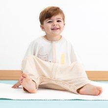 威尔贝鲁(WELLBER)婴儿睡袋秋冬加厚 儿童防踢被春秋分腿宝宝睡袋夏季薄款
