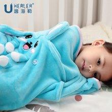 Uhealer海勒兔 法兰绒儿童卡通毯学生空调毯幼儿园午睡毯宝宝毛巾毯新生儿毯子