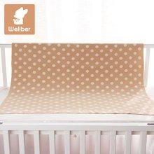 威尔贝鲁(WELLBER)婴儿毛毯春夏新生儿毯子宝宝纯棉盖毯儿童大毛巾空调被