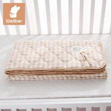 威尔贝鲁(WELLBER)婴儿被子新生宝宝儿童夏凉被春夏可洗婴儿被空调被凉被