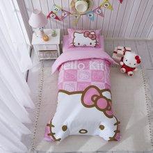 Marvelous kids婴幼儿床上三件套幼儿园三件套大版花hellokitty全棉被套床单枕套三件套