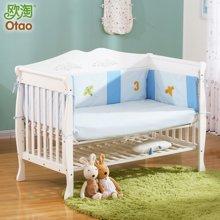 欧淘婴儿床环保实木多功能宝宝床BB儿童床可变书桌正品婴儿摇篮床  YECOTWGYPYJ0164002