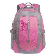 孔子书包初中-高中学生系列涤纶双肩中国风A208粉色