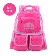 芃拉小学生书包女生公主儿童背包1-3-6年级纪韩版卡通包61135BLBL