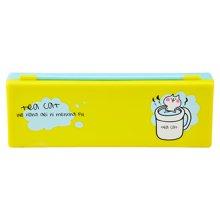上品汇PP塑料笔盒清新可爱卡通简单小学生男女孩铅笔盒文具盒