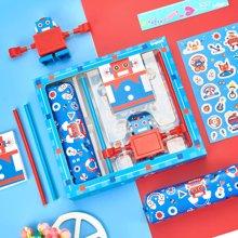 上品汇机器人文具礼盒五件套装原创设计儿童礼物学生奖品新品包邮
