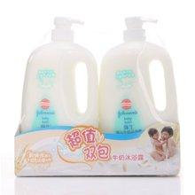 强生婴儿牛奶沐浴露1L双包装(1000ml*2)