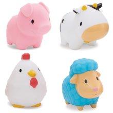 美国munchkin麦肯齐满趣健农场小动物洗澡玩具4只装