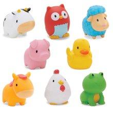 美国munchkin麦肯齐满趣健农场小动物洗澡玩具8只装