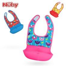 美国品牌 努比(Nuby)围兜 婴儿防水饭兜宝宝吃饭围兜硅胶围嘴口水兜