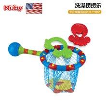 美国品牌 Nuby努比洗澡玩具 婴儿宝宝浴室玩具 儿童戏水套装 洗澡捞捞乐