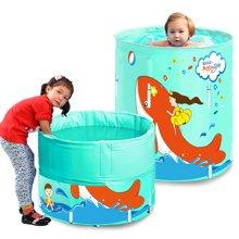 漫游宝宝可折叠游泳池(70cm*80cm尼龙PVC支架豪华套餐版)大鱼图案