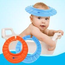 婴侍卫宝宝洗浴防水帽 儿童可调节洗头帽洗澡洗浴母婴用品YSWS601