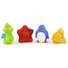 美国munchkin麦肯齐满趣健儿童戏水海洋动物捏捏喷水洗澡玩具4个