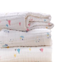 六层纯棉纱布婴儿浴巾