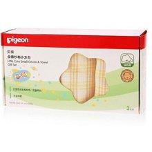 Pigeon/贝亲 (三条盒装)全棉纱布小方巾 6931025814263
