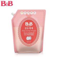韩国保宁B&B 婴幼儿除菌洗衣液 纤维洗涤剂补充装 1300ml