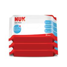 NUK超厚特柔婴儿湿巾三包促销装(80片*3)