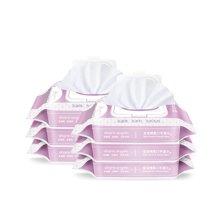 十月天使 宝宝湿巾婴儿手口湿纸巾 润肤柔湿巾 80抽*6包