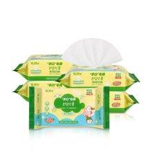 艾莱芙/Ilife婴儿柔软手口湿巾 5包80抽宝宝湿纸巾无香
