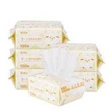 艾莱芙/ilife婴儿干湿两用棉柔巾 宝宝哺乳期妈咪清洁护理女性卸妆100抽*6包
