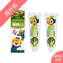 2支装 韩国Pororo宝露露小企鹅哈密瓜味儿童牙膏 防龋齿 90g/支