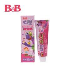 韩国保宁B&B 儿童防蛀护齿牙膏 草莓味 90g 3岁+ 原装进口牙膏