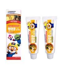 2支装 韩国Pororo宝露露小企鹅菠萝味儿童牙膏 防龋齿 90g