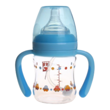 Goodbaby/好孩子 汽车系列母乳实感宽口径握把吸管120ML玻璃奶瓶 B80352