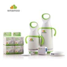 达宝恩 神妈(smamoo) 玻璃奶瓶 智能婴儿恒温暖奶瓶B-W-1 Wifi版App智能奶瓶套装140ML+260ML