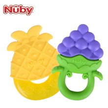 努比(Nuby)宝宝磨牙棒牙胶 婴儿硅胶磨牙胶玩具 水果冰胶564颜色随机