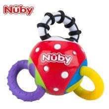努比(Nuby)牙胶 婴儿磨牙固齿器 安抚奶嘴咬胶扭扭球玩具