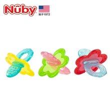 nuby/努比 宝宝婴儿固齿器 口腔训练器咬咬胶玩具 咀嚼训练固齿器-颜色随机
