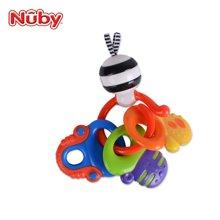 努比(Nuby)牙胶 宝宝磨牙器婴儿牙胶 锁匙固齿器