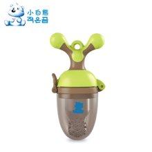 小白熊奶嘴型婴儿咬咬训练器(棕绿)(09291)