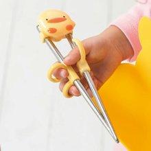 专柜同款 黄色小鸭 不锈钢学习筷  630123