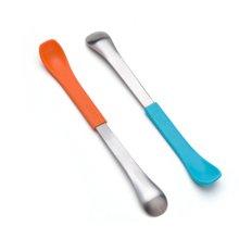 美国 Boon 婴儿童多功能软硬两用勺 两支装