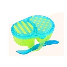 【美国】Sassy 宝宝辅食碗勺套装 不含BPA 颜色随机