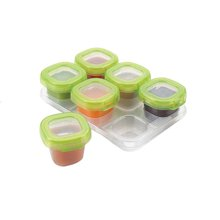 【香港直邮】美国OXO tot宝宝辅食盒婴儿辅食冷藏盒储存保鲜盒零食便携密封盒6个装60ml/个*1套
