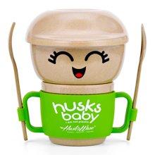 【寻觅好物 爆款直降】美国壳氏唯 稻谷壳婴儿童餐具套装 创意幼儿园宝宝辅食吸盘碗勺